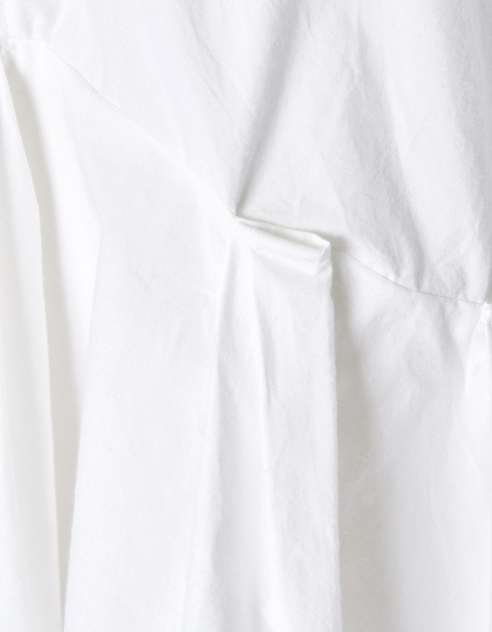 Back Line Print Blouse / white