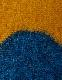 Wave Pattern Big Scarf / blue