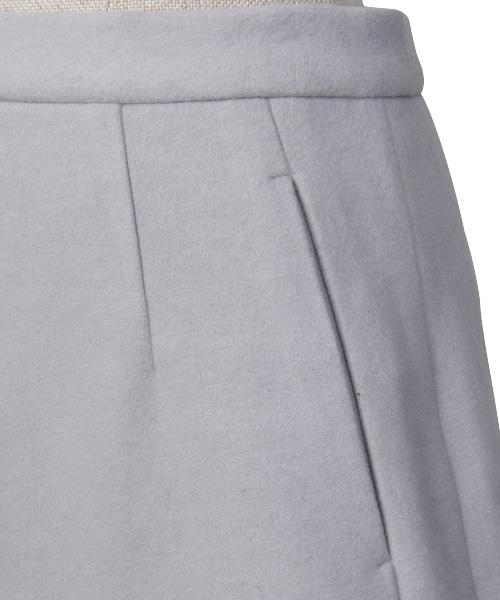 Knit Melton Pants / light gray
