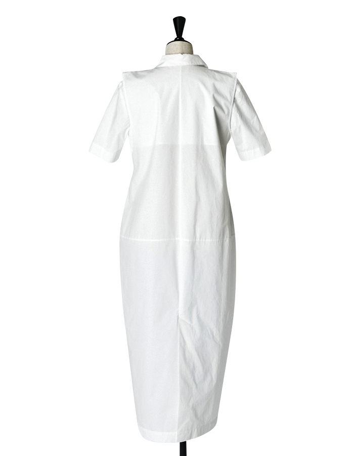 Knit Bonding Shirt One-piece / white