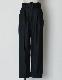 Belt Tuck Wool Pants / black