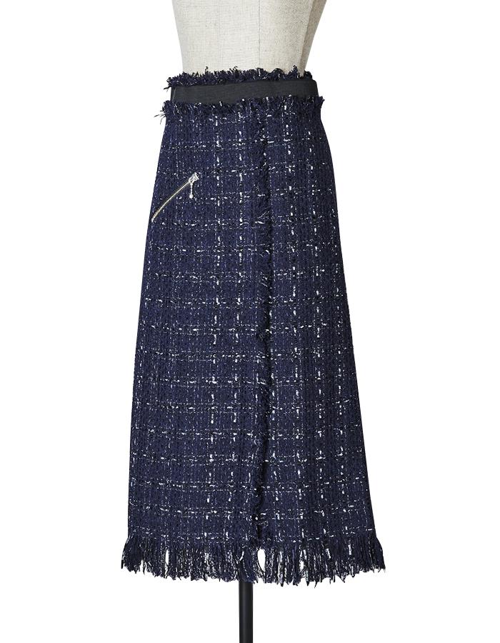 Tweed Skirt / navy
