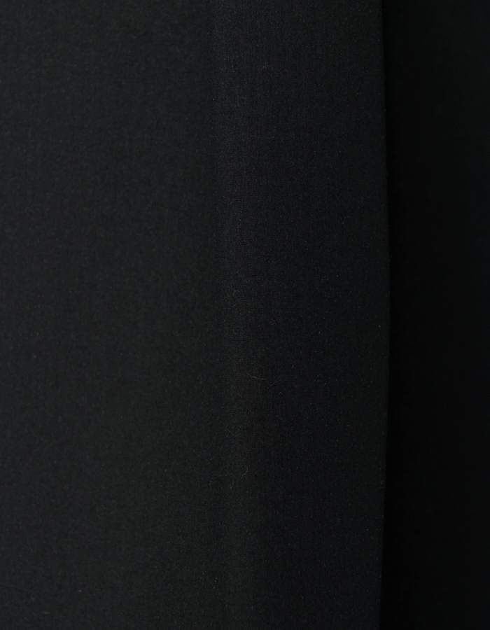 Knit Bonding Stand Collar Shirt / black