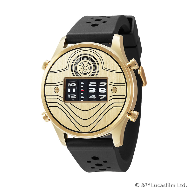 STAR WARS Roller watch by FUTURE FUNK rubber band model