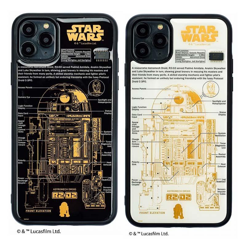 STAR WARS FLASH R2-D2 基板アート iPhone11ProMaxケース【ご注文より20営業日前後にて発送】