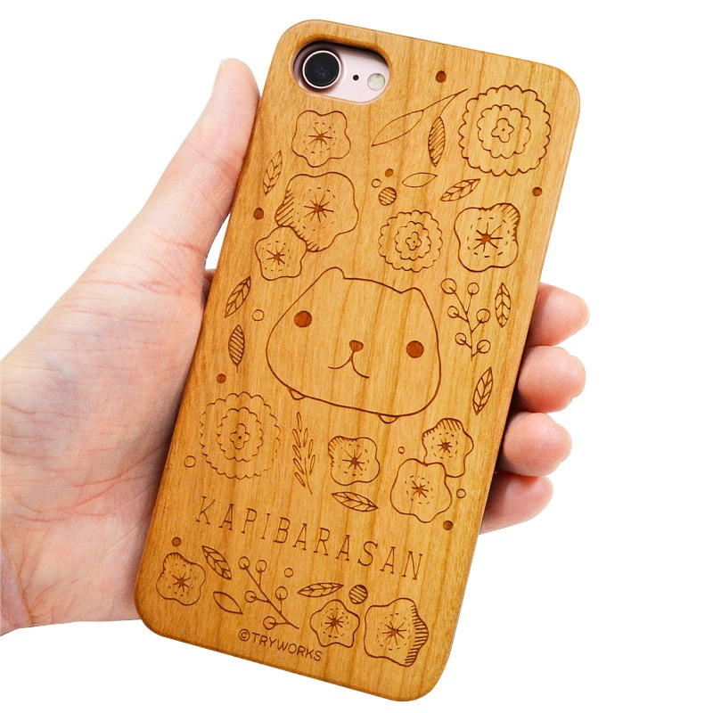 カピバラさん 木製iPhone 7ケース【メール便可】【ご注文より15営業日前後にて発送】