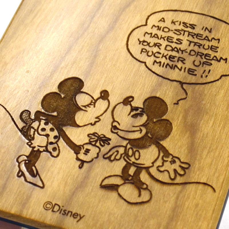 木製iPhone 7ケース ディズニー【メール便可】【ご注文より15営業日前後にて発送】