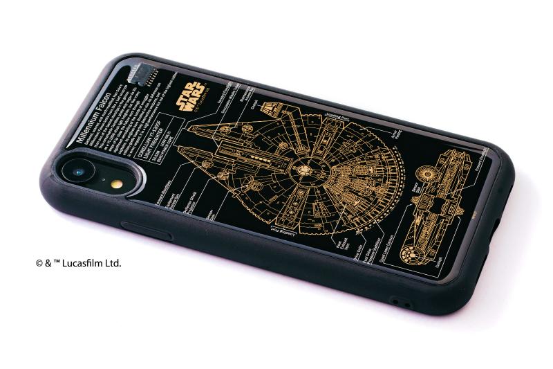STAR WARS FLASH M-FALCON 基板アート iPhone XRケース【ご注文より20営業日前後にて発送】