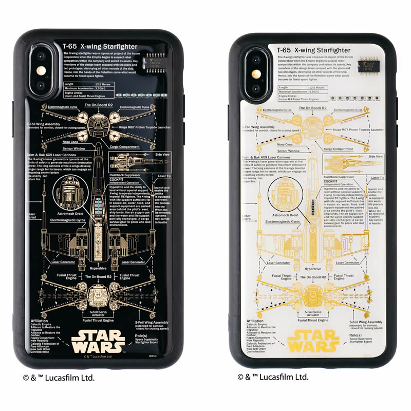 STAR WARS FLASH X-WING 基板アート iPhone XS Maxケース【ご注文より20営業日前後にて発送】