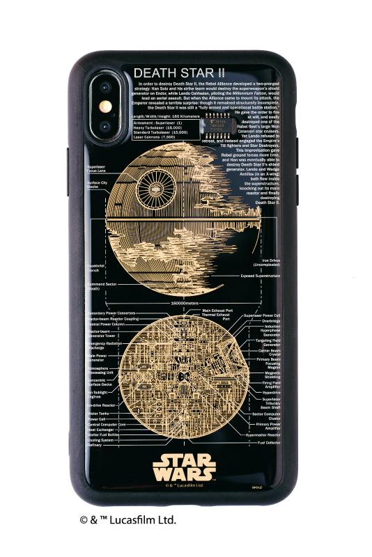 STAR WARS FLASH DEATH STAR 基板アート iPhone XS Maxケース【ご注文より20営業日前後にて発送】