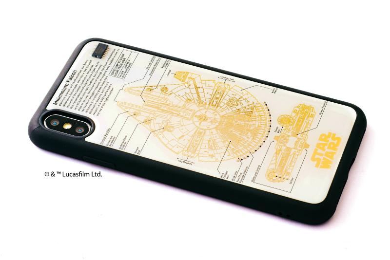 STAR WARS FLASH M-FALCON 基板アート iPhone XS Maxケース【ご注文より20営業日前後にて発送】
