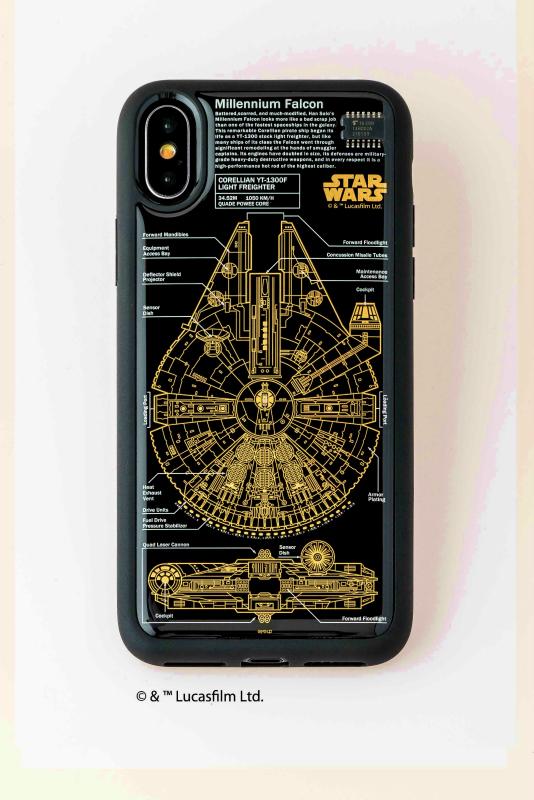 STAR WARS FLASH M-FALCON 基板アート iPhoneX/XSケース【ご注文より20営業日前後にて発送】