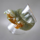 翡翠ピーショーくり抜きリング 翡翠リング 富と健康の守り神 サイズL W5010-3 送料無料