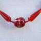 カーネリアンネックレス オリジナルデザイン 手作り一点物  宝石専門店が作る天然石ネックレス 上質 大人仕様 W6001 送料無料(レターパック+)