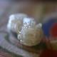 翡翠ピーショーネックレス 少々難あり 中国結び 富と健康のお守り 珊瑚彫刻バラ フリンジ W5042 44� 送料無料