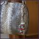 翡翠「豚」とトンボ玉のバックチャーム W5206 送料無料 オリジナル一点物