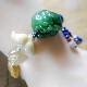 ネフライトブレスレット 中国結び 富と健康のお守り 天然石 可愛いフリンジ付き W5065 Mサイズ 送料無料
