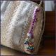 翡翠「ウサギ」とトンボ玉のバックチャーム W5209 送料無料 オリジナル一点物