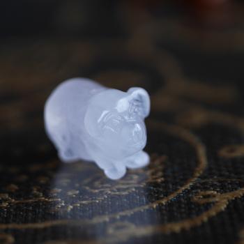 ローズクオーツ製「豚」・カーネリアンブレスレット 伸縮ゴム製 W5079 フリーサイズ 送料無料