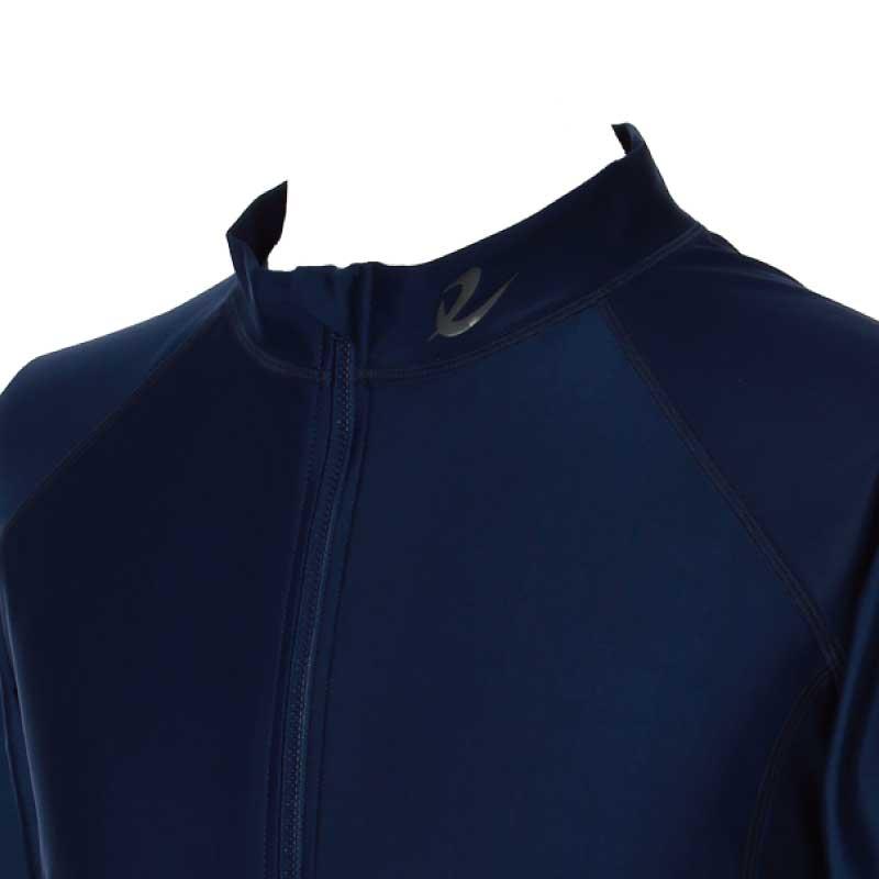 【送料無料】[水陸両用][UVケア][体型カバー]メンズ長袖フルジップラッシュガード(SR1832)