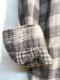 ARMEN/アーメン DOUBLE GAUZE OVER DYE UTILITY BANDED COLLAR SHIRT (LARGE CHECK)  ・ INAM1971DGC [送料無料]
