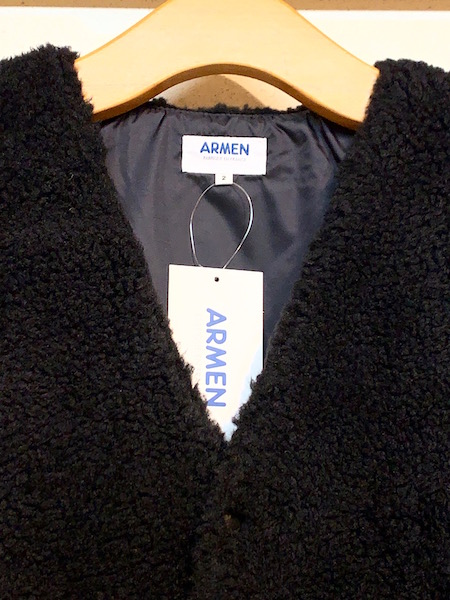 ARMEN/アーメン FLEECE FRONT ZIP&SNAP V-NECK JACKET・ NAM2071Y [送料無料]