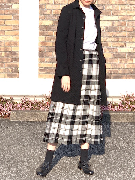 O'NEIL OF DUBLIN/ オニールオブダブリン  LOW WAIST PLEATS WRAP SKIRT (WITH PIN) - TWEEED ・ NOD1173 [送料無料]