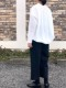 mizuiro-ind./ミズイロインド フロントレースVネックワイドシャツ ・ 3-239571