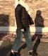 ARMEN/アーメン  PLAIN POLYESTER x PLAIN POLYESTER HEAT QUILT NO COLLAR JACKET ・ NAM1851PP [送料無料]