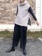 SI-HIRAI/スーヒライ  ウールリングヤーン圧縮ジャージーオフハイネックジレ  ・ CHAW20-4214 [送料無料]