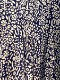 maison de SOIL/メゾンドソイル   80'S VOILE FLOWER BLOCK PRINT INVERTED PLEAT WIDE  DRESS WITH LINING ・ INMDS21033 [送料無料]