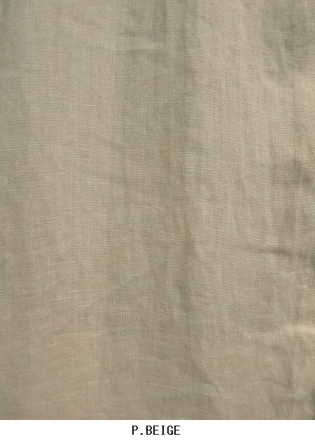 SALE HARROW TOWN STORES/ハロータウンストアーズ  LINEN PLAIN WORK BUTTON LONG SHIRT ・ NHT1401L [送料無料]