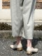 yuko imanishi+/ユウコイマニシプラス キップスクエアトゥVカットパンプス ・ 791030 [送料無料]
