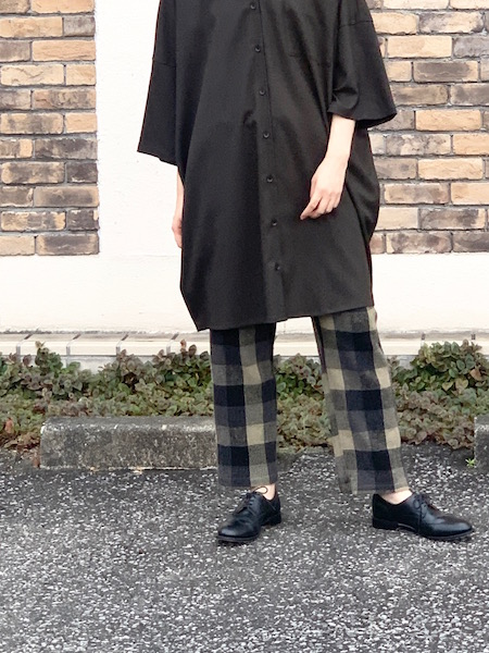 HARROW TOWN STORES/ハロータウンストアーズ  COTTON WAFFLE BLOCK CHECK OVERDYE EASY PANTS ・ INHT1861WC [送料無料]
