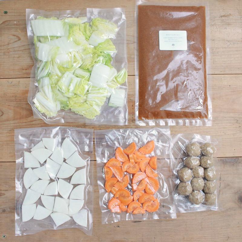 軟骨入りつくねとお野菜の玄米胚芽鍋セット