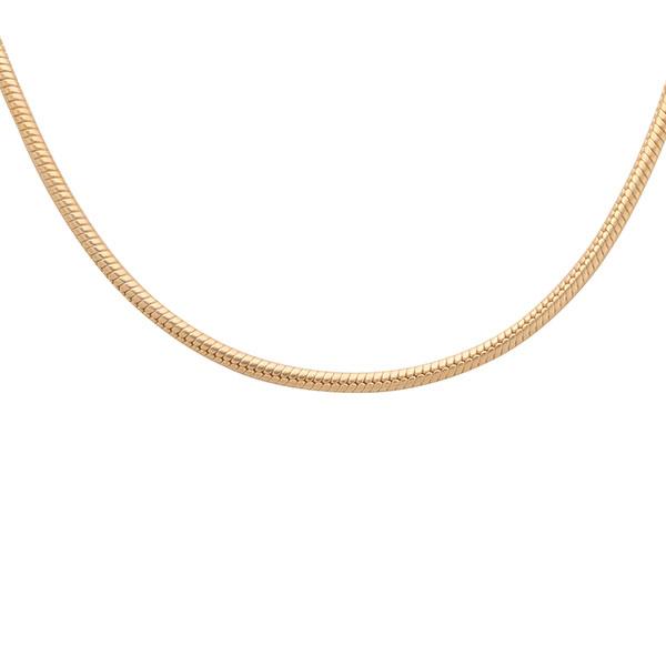 スネーク シルバー925製 K24(24金)ゴールドプレートチェーン(38cm) IC24-38-GPL