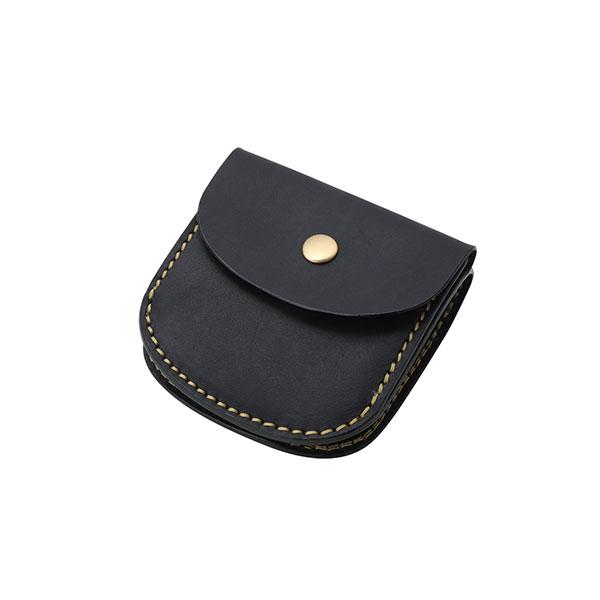 ミニウォレット/革財布  ブラック サドルレザー