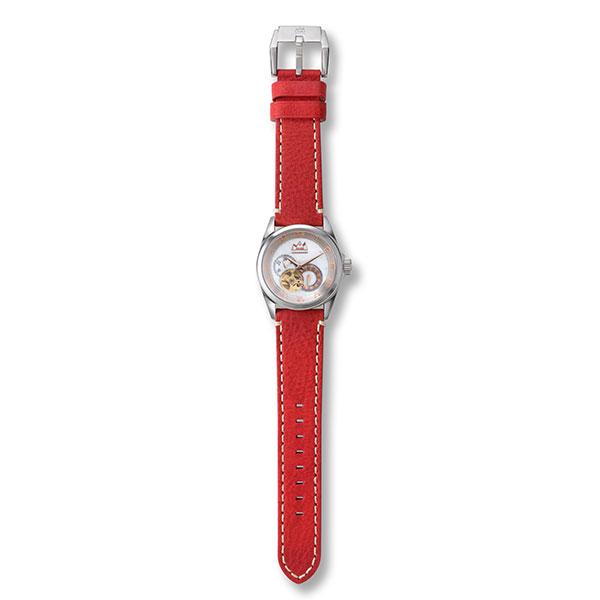 ホワイトハウライト オートマチック自動巻き腕時計 MJSS-37-WHT/WBS-14-RED-22