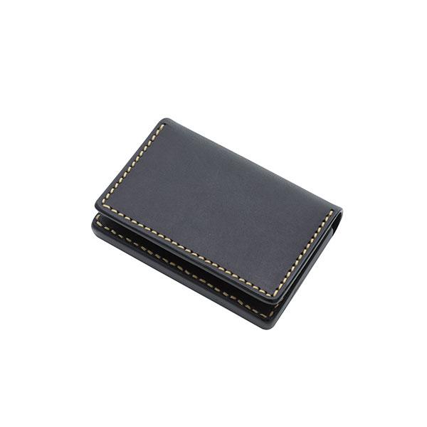 本革カードケース ブラック サドルレザー