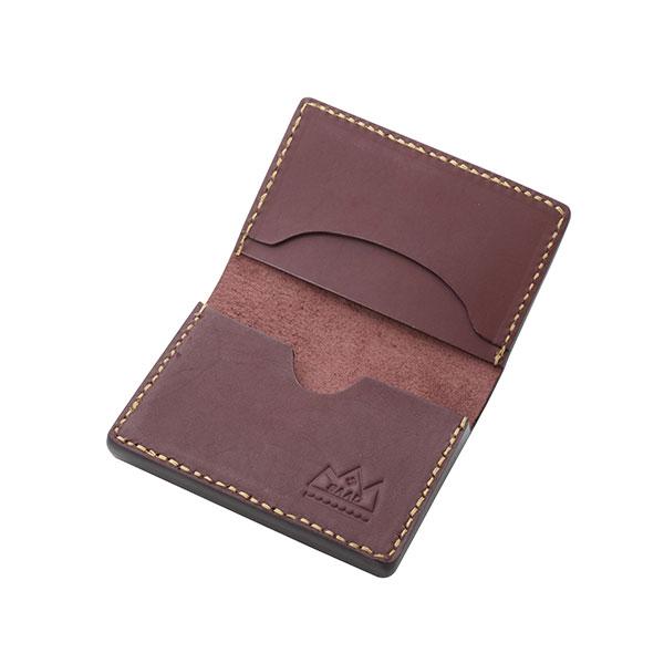 本革カードケース ブラウン サドルレザー