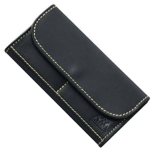 ロングウォレット/革財布 ブラック サドルレザー WL-7-BK