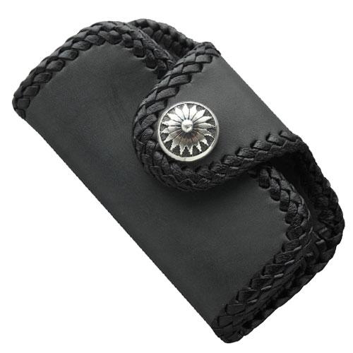 本革レザーキーケース ブラック サドルレザー