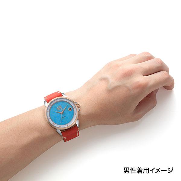 ターコイズ クオーツ式腕時計
