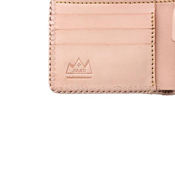 ショートウォレット/革財布 ナチュラル サドルレザー