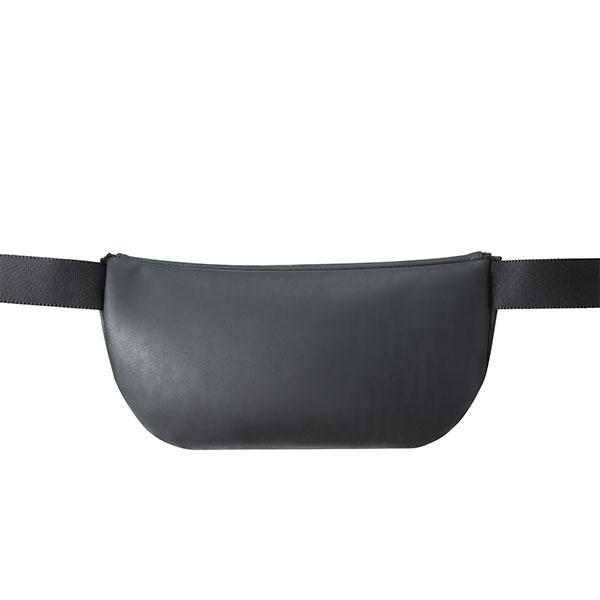 本革レザーボディバッグ ブラック サドルレザー