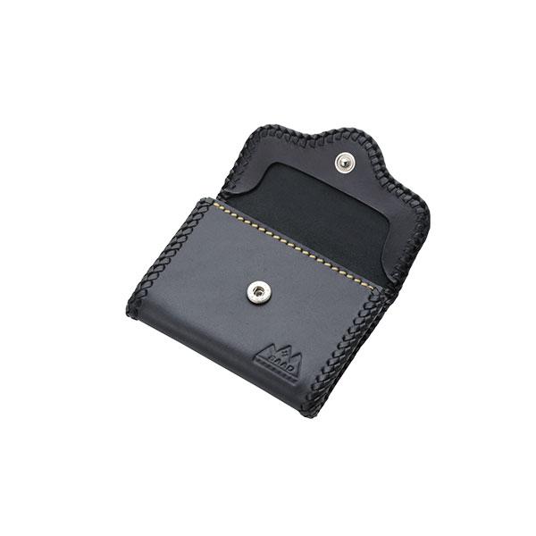 本革レザーコインケース ブラック サドルレザー