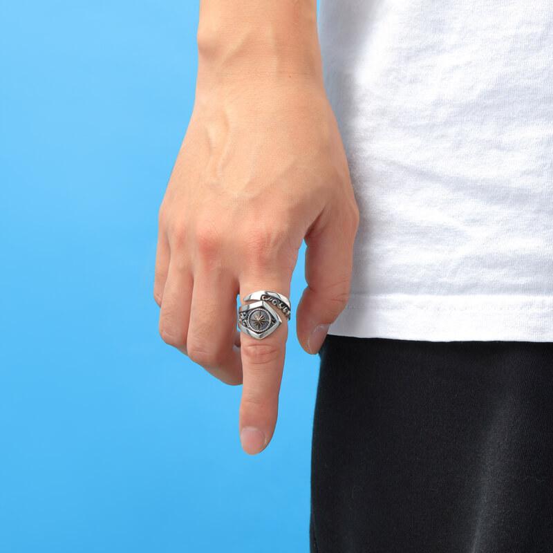 サンシンボル シルバー925スネーク シルバー925リング/指輪