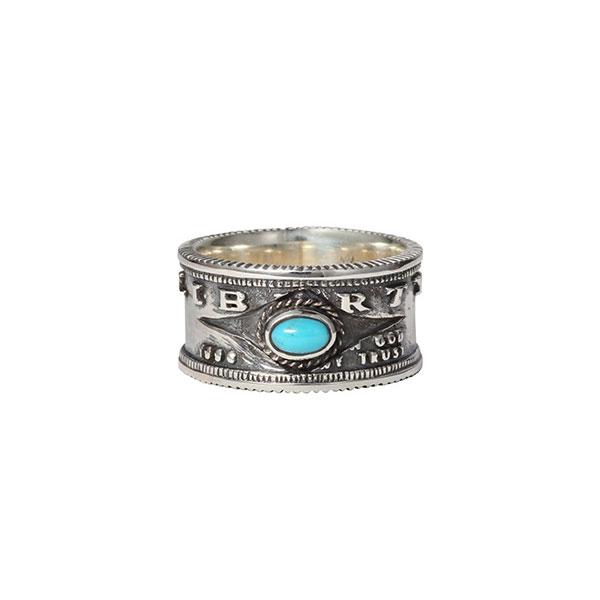 天然石ターコイズ ストーンリング/指輪 R-66-T