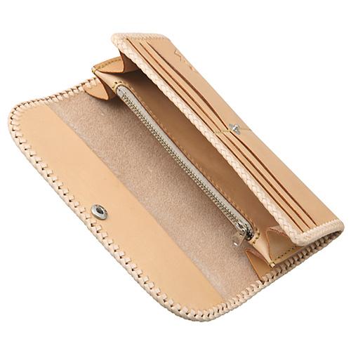 ロングウォレット/革財布 ブラック サドルレザー WL-10-BK