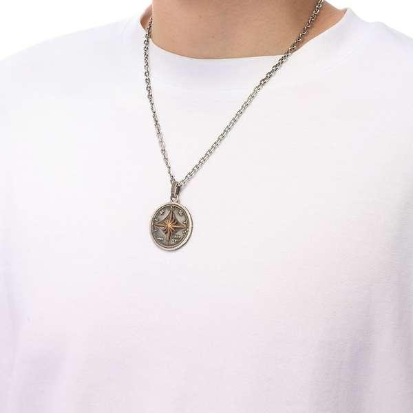 50セント硬貨(ハーフ・ダラーコイン)モチーフペンダント チェーンセット STANDARD006